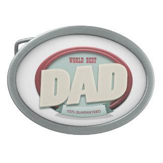 world best dad oval belt buckle
