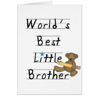 World Best Little Brother Tshirts and Gifts Card