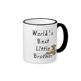 World Best Little Brother Tshirts and Gifts Ringer Mug