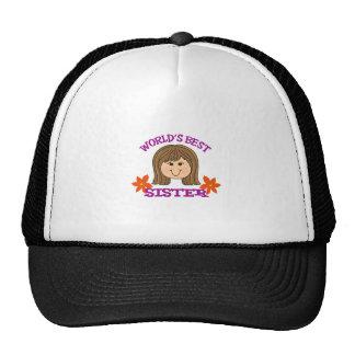 WORLD BEST SISTER TRUCKER HAT