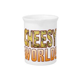 World Blue Cheesy Pitcher