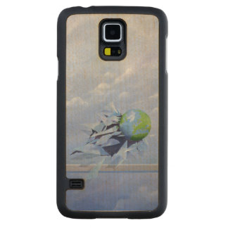 World Breaking Glass Carved Maple Galaxy S5 Case