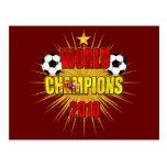 World Champions 2010 Spain Post Card