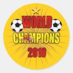 World Champions 2010 Spain Stickers