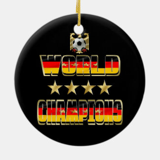 World Champions Germany Fans Flag 2014 Round Ceramic Decoration