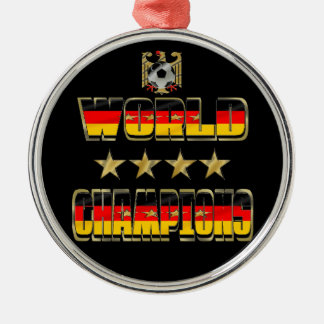 World Champions Germany Fans Flag 2014 Silver-Colored Round Decoration