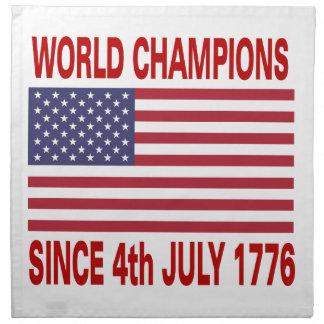 World champions since 1776 napkin