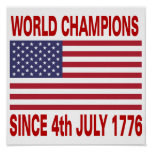 World champions since 1776 poster