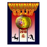 World Champions Spain 2010 Espana futbol Postcards
