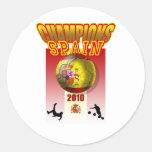 World Champions Spain 2010 Espana futbol Classic Round Sticker