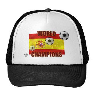 World Champions Spain flag soccer ball 2010 Trucker Hat