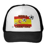 World Champions Spain flag soccer ball 2010 Trucker Hats