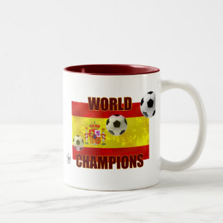 World Champions Spain flag soccer ball 2010 Mugs