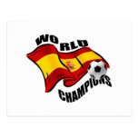 World Champions Spain Wavy flag 2010 Postcard