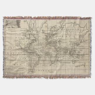 World Chart Throw Blanket