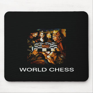 WORLD CHESS, MOUSEPAD