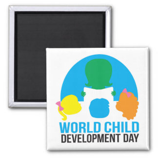 World Child Development Day Magnet