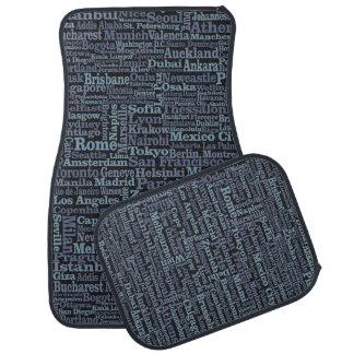 World Cities car floor mats