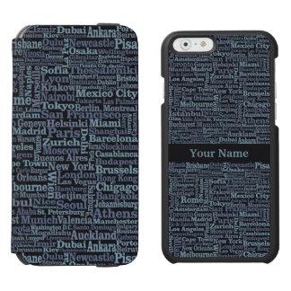 World Cities custom phone case wallets Incipio Watson™ iPhone 6 Wallet Case