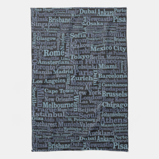 World Cities hand towel