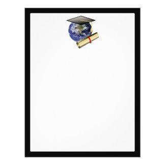 World Class Graduation - Cap and Golden Diploma 21.5 Cm X 28 Cm Flyer