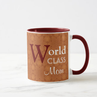 World Class Mom Love You Orange Red W1655 Mug