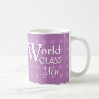 World Class Mom Love You Purple Polka Dots W1655B Mug