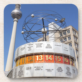 World Clock and Television Tower, Alexanderplatz, Beverage Coaster