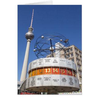 World Clock and Television Tower, Alexanderplatz, Card