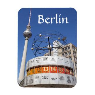 World Clock and Television Tower, Alexanderplatz, Rectangular Photo Magnet