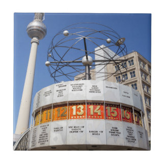 World Clock and Television Tower, Alexanderplatz, Small Square Tile