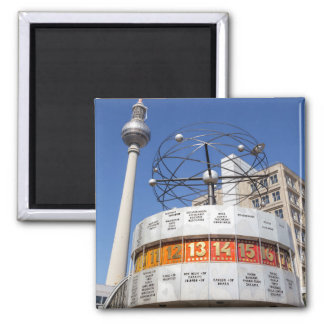 World Clock and Television Tower, Alexanderplatz, Square Magnet