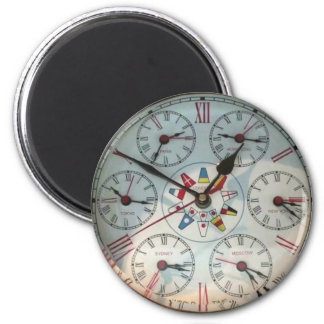World Clock image  Standard, 2¼ Inch Round Magnet