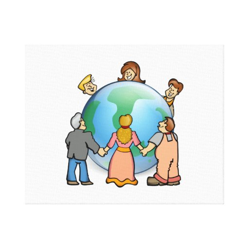 World Coming Together Gallery Wrap Canvas