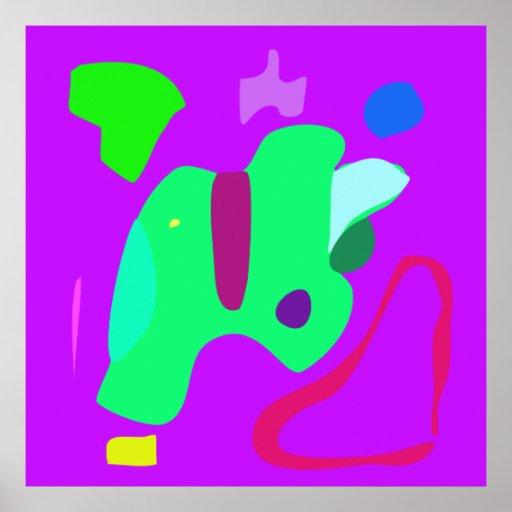 World Contemporary Art Season Winter Color 12 Poster