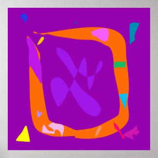 World Contemporary Art Season Winter Color 25 Poster