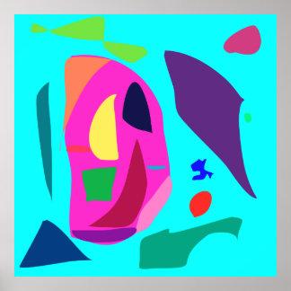 World Contemporary Art Season Winter Color 28 Poster