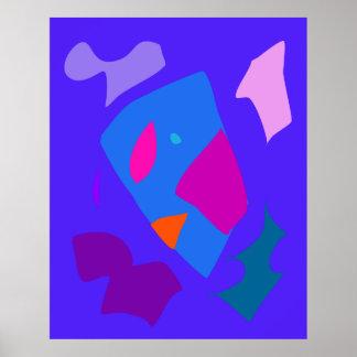 World Contemporary Art Season Winter Color 35 Poster