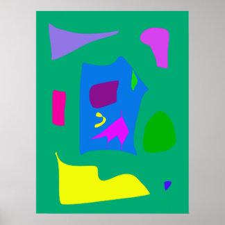 World Contemporary Art Season Winter Color 45 Poster