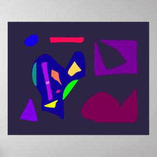 World Contemporary Art Season Winter Color 55 Poster