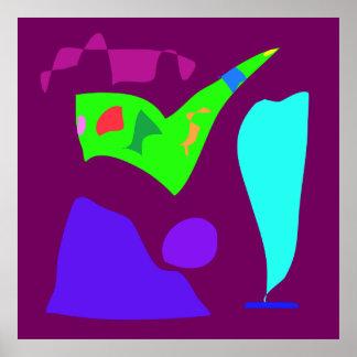 World Contemporary Art Season Winter Color 5 Poster