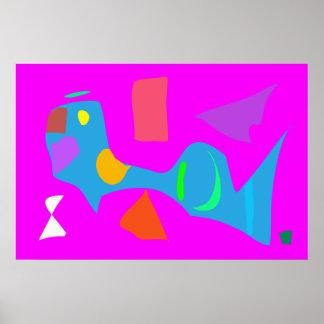 World Contemporary Art Season Winter Color 62 Poster