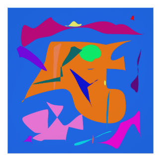 World Contemporary Art Season Winter Color 6 Poster