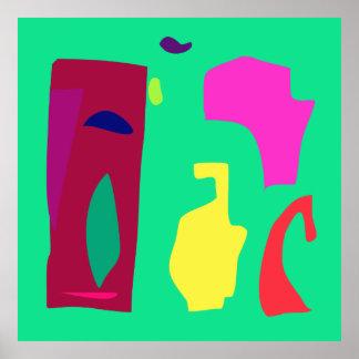 World Contemporary Art Season Winter Color 7 Poster