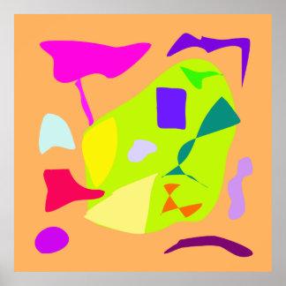 World Contemporary Art Season Winter Color 9 Poster
