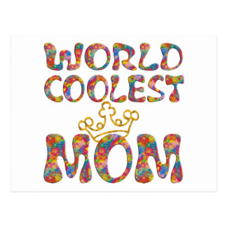 World Coolest Mom | make your own background Postcard