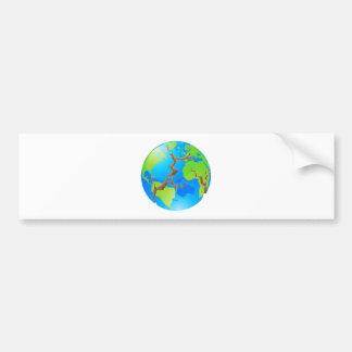 World crisis concept bumper stickers