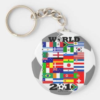 World Cup 2010 Flag Group Keychain