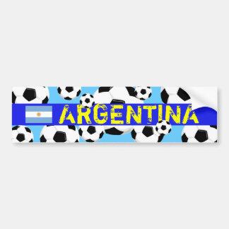 World Cup Ball Bumper Sticker Argentina