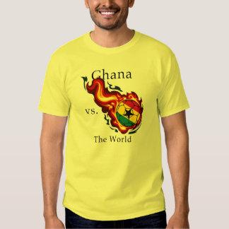 World Cup - Ghana Versus The World Flaming Ball Tshirt